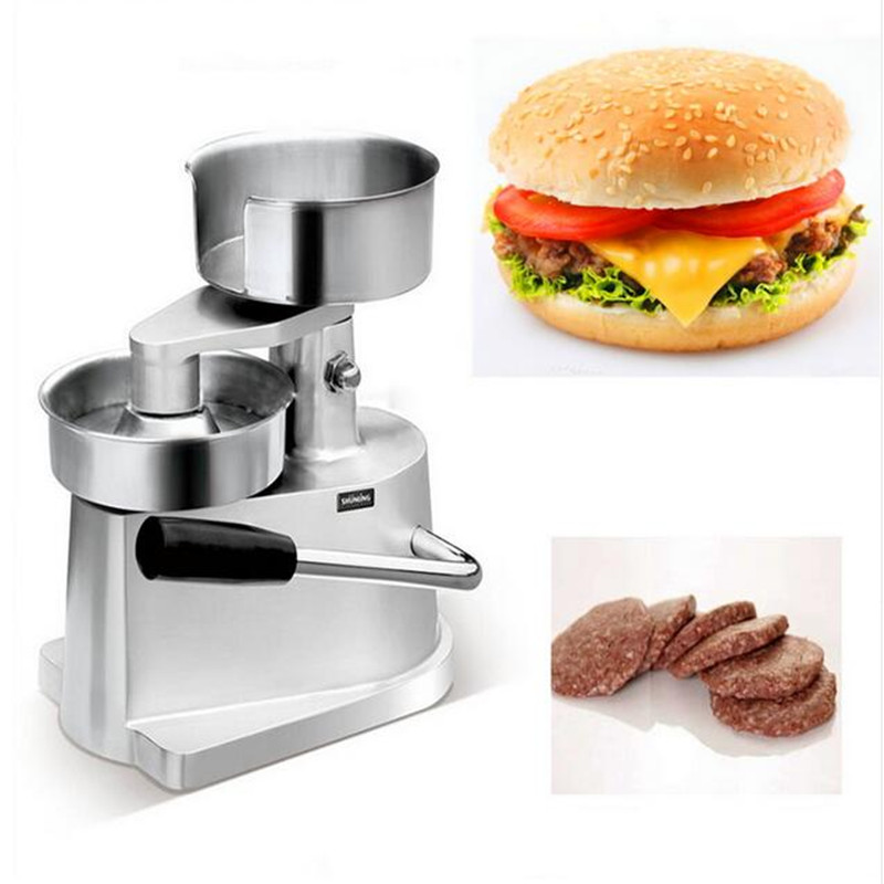 Manual Hamburger Machine Stainless Steel Press Burger Patty Maker Diameter 100mm/130mm Meat Pie Froming Machine Commercial/HomeManual Hamburger Machine Stainless Steel Press Burger Patty Maker Diameter 100mm/130mm Meat Pie Froming Machine Commercial/Home