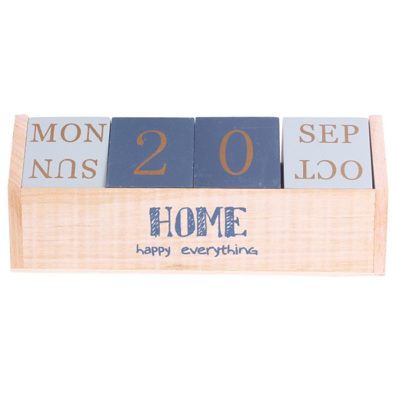 Dailyuse Manual Wooden Combination Small Desk Calendar Desktop Decoration Ornament