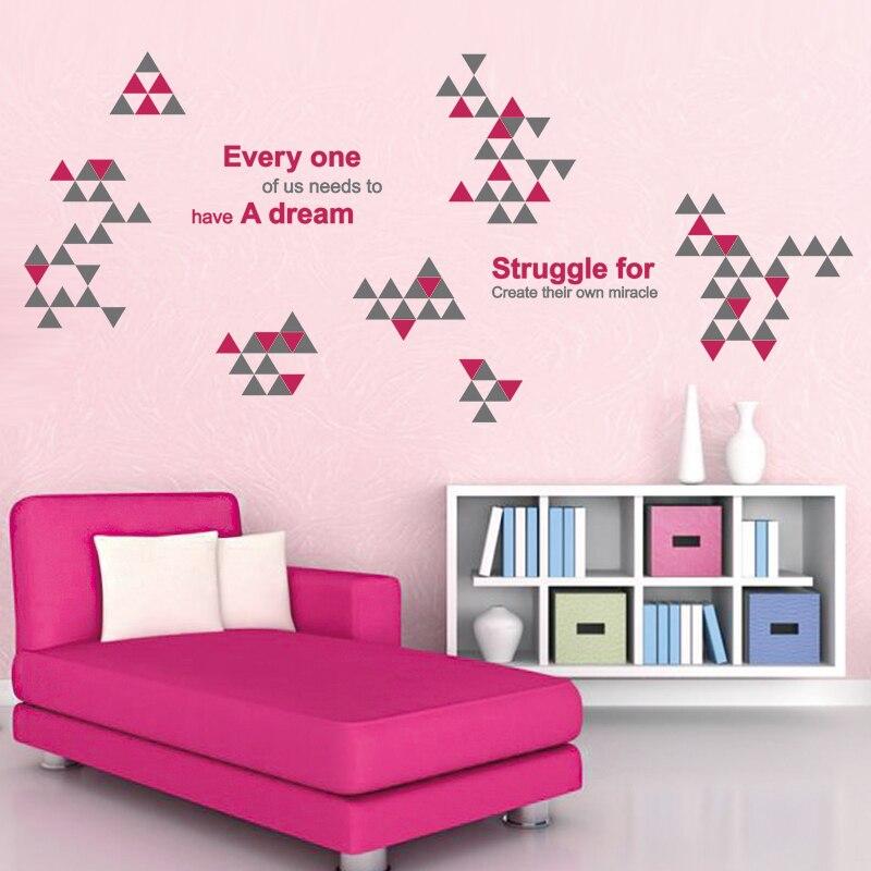 SHIJUEHEZI] Customized Geometric Wall Sticker Quotes Inspirational ...