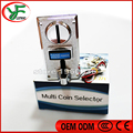 5 different coins of Multi coin selector acceptor support multi signal output 1 signal Jamma mean arcade game machine part