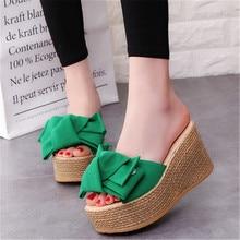 Mvp Boy Summer wedges pine Muffin bottom anti-skid slippers flat open toe students increase Korean women shoes Eu 34-40