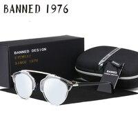 BANNED Top Quality Latest Women Metal Sunglasses Real Uv400 Feminin Brand Design Lay S Oculos Sun