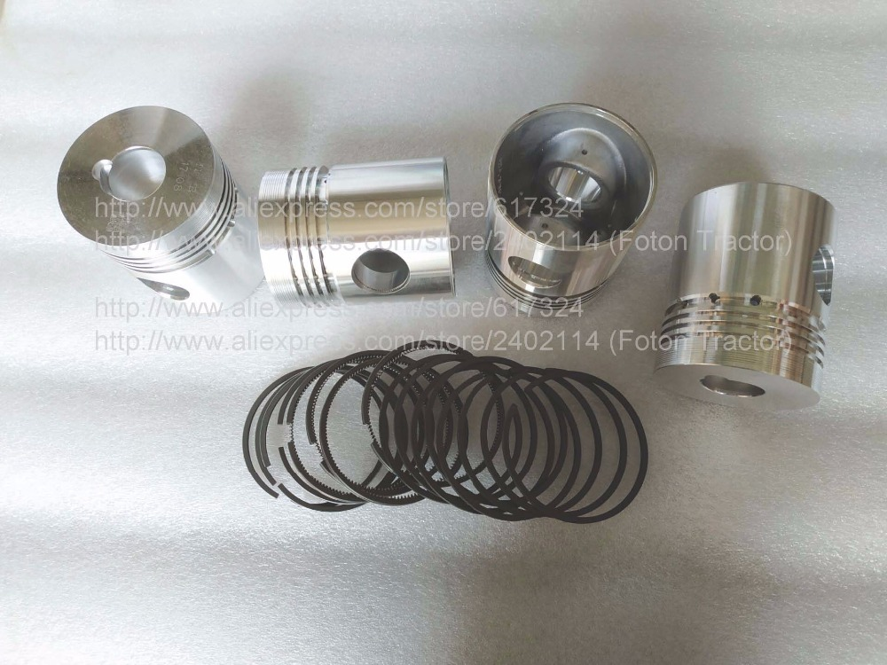 Shanghai tractor SH504 with engine 495A as picture showed, the set of piston with piston rings ,part number: гладильная система hotpoint ariston sg c 11 ckg
