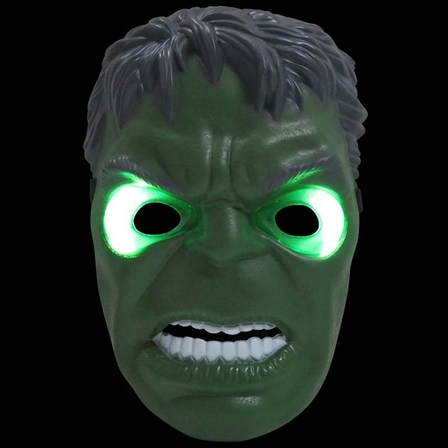 23x16cm kids adult suitable halloween makeup party green giant maskchildrens gift led glow hulk