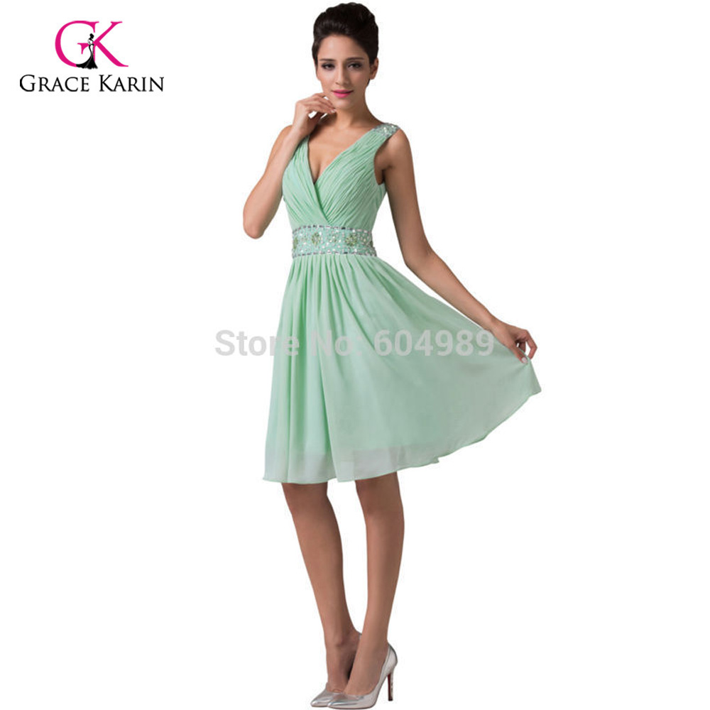 Cheap mint green short bridesmaid dresses under 50 grace karin cheap mint green short bridesmaid dresses under 50 grace karin chiffon knee length wedding party dress brides maid dresses 6104 in bridesmaid dresses from ombrellifo Images