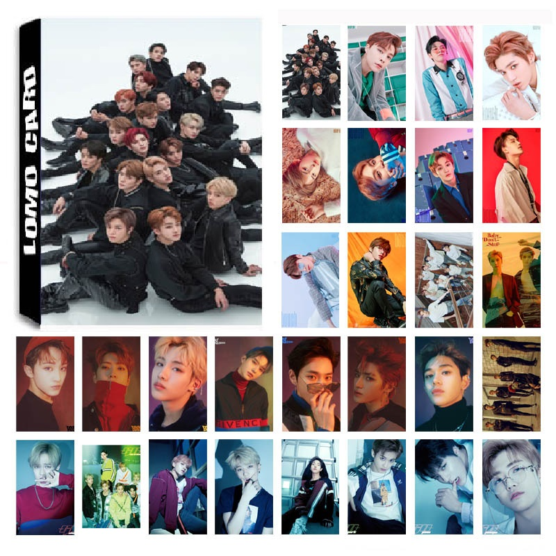 30pcs/set Kpop Nct U 127 Team 02 Album Hd Photo Card Pvc Self Made Lomo Photocard Stationery Set School & Educational Supplies