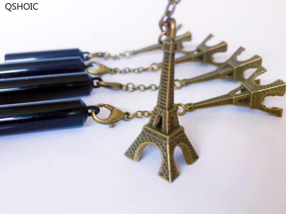 35pcs lot 0 5mm Black Ink Creative Fashion Eiffel Tower Pendant England British Style School Unisex Pen Gel Sign Pen in Gel Pens from Office School Supplies