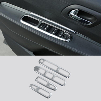 For Peugeot 3008 2009 2012 2015 ABS Chrome Car door handle holder window lift switch button cover trim sticker Auto accessories