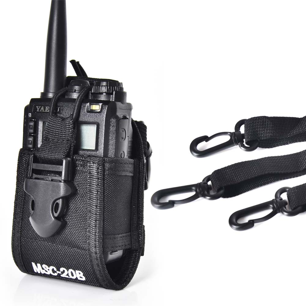 Baofeng Deux voies radio cas titulaire MSC-20B pour Icom Baofeng UV-5R/5RE/5RA PLUS TYT TH-F8 + Yaesu Vextex talkie walkie