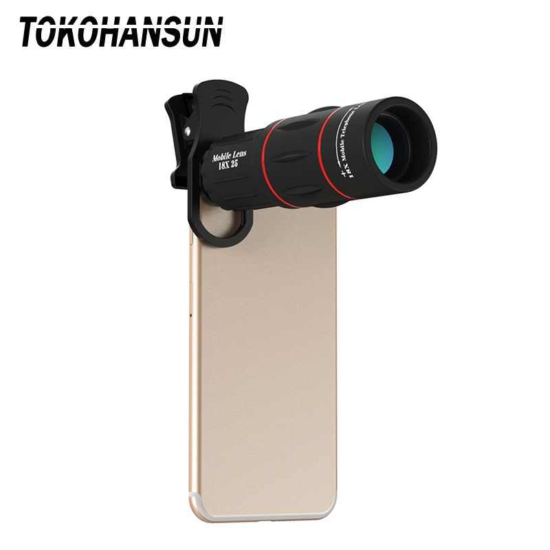 18X25 Mobile Phone LensMonocula Telescope Zoom For Xiaomi redmi note 7 mi 9 Smartphones Clip Telefon 18X Cell Phone Camera Lens