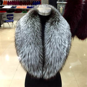 Fur Scarf Natural Large Fashion Warm Hot Silver Fox Unisex Fox-Fur