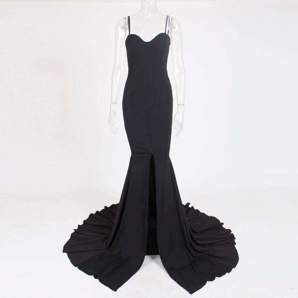 Strapless Split Front  Mermaid Sleeveless Elegant Dress 24
