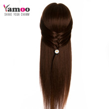 brown can be curled professional hair styling head with human hair hairdressing mannequins 60%real hair manikin head