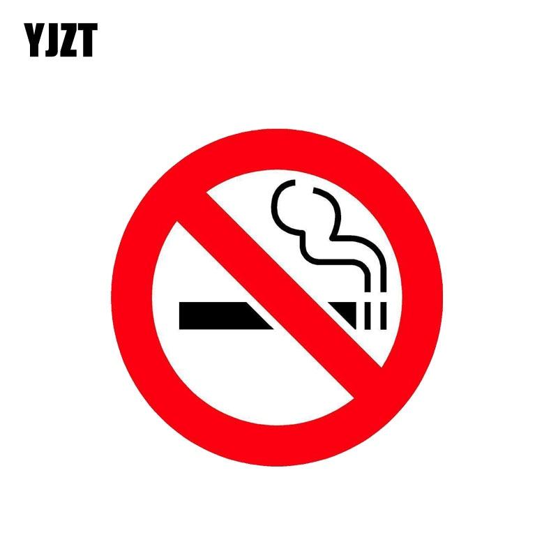 YJZT 12,7 см * 12,7 см забавная ПВХ наклейка без курения, предупреждающая Автомобильная наклейка 12-0794