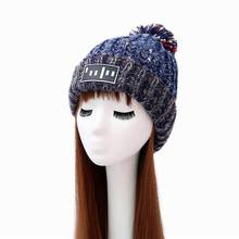 Warm Stylish Ladies Woman Knitted Crochet Beanie Winter PomPom Hat Cap