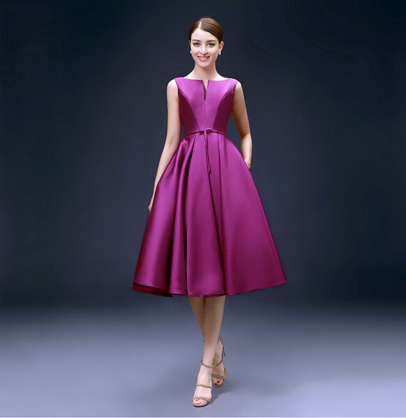 Elegant Satin Fabric High Waist Women Party Dress Bridesmaid Sister Fashion Dresses In From Weddings Events On Aliexpress Alibaba