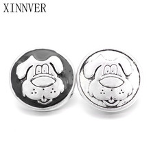 10Pcs/lot Unisex Charm Pulseras 18mm Metal Dog Snap Button Jewelry For Bracelet Watches Women One Direction ZA474