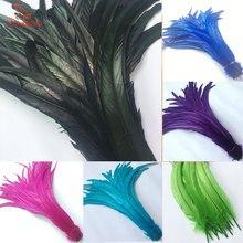 Красивые 500 шт натуральные перья хвоста петуха Сделай Сам 30 35 см/12 14 дюймов украшения одежды сцены петух перья, пух