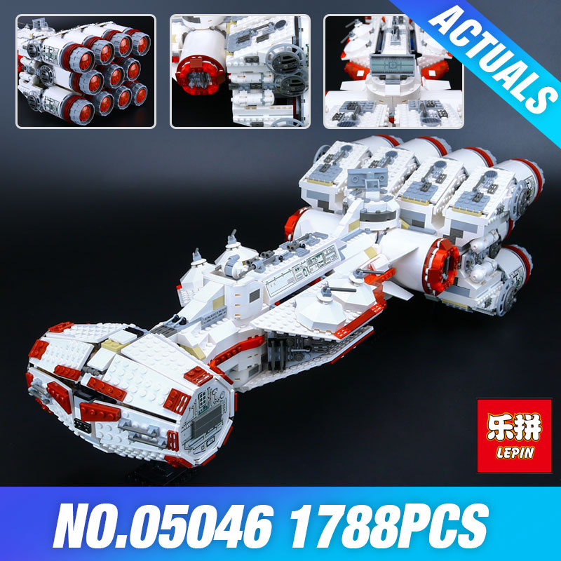 Lepin 05046 Star 1748Pcs Series Wars The Tantive IV Blockade Runner 10019 Educational Building Blcoks Bricks Toys for Boy's DIY taming the star runner