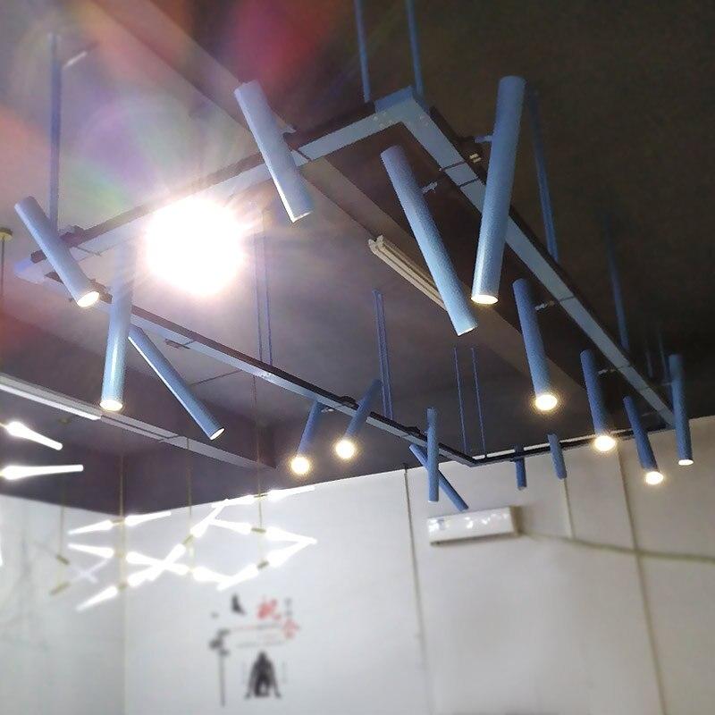 modern led track light down spot light long tube industrial cool office bar track lamp restaurant showroom shop display