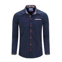 New Arrived 2017 Mens Work Shirts Brand Pure Cotton Long Sleeve Slim Fit Men Dress Shirts