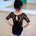 Child ballet Leotards Costume Kid Ballet Tutu Girls Lace short sleeves Dance Clothes leotards