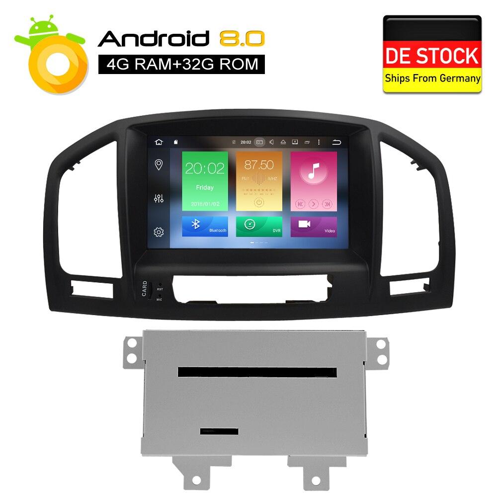 Android 8.0 Auto Lettore DVD multimediale di Navigazione GPS per Opel Insignia CD300 CD400 Regal Vauxhall 2010 2011 2012 Radio Stereo
