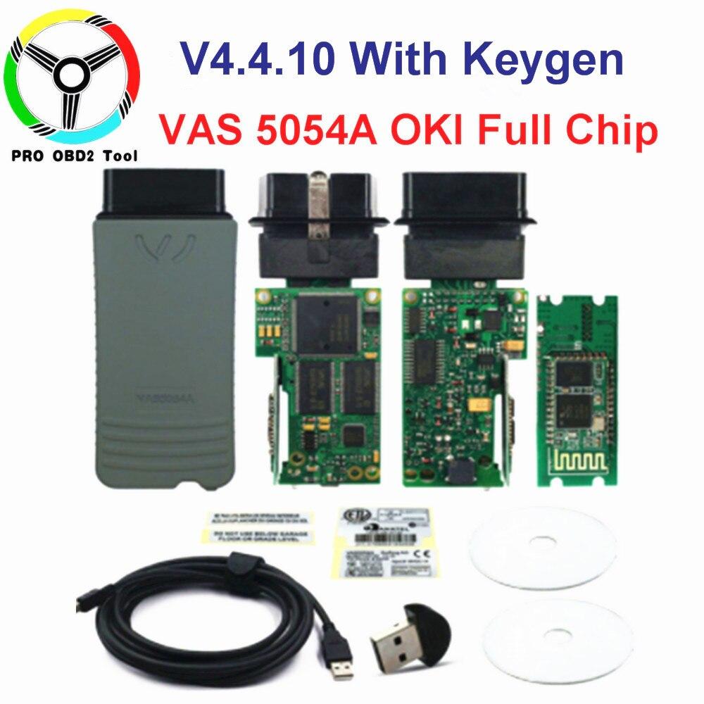 D'origine VAS 5054A OKI ODIS V4.4.10 Keygen Bluetooth AMB2300 VAS 6154 WIFI VAS5054A Plein Puce VAS5054 UDS Outil De Diagnostic