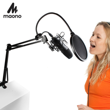MAONO USB הקבל מיקרופון ערכת מקצועי פודקאסט סטודיו מיקרופון Play & Plug מיקרופון למחשב קריוקי YouTube משחקים הקלטה