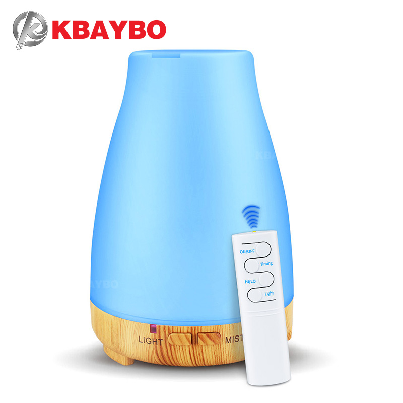 KBAYBO Humidifier Aroma Diffuser Essential Oil Diffuser Aromatherapy Air Humidfier With Remote Control LED Night Light For Home