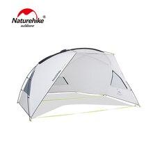 Naturehike Outdoor Camping Single Layer Tent Aluminum Alloy Poles Large Family Beach Tarp Awning UPF40 Sun Shelter все цены