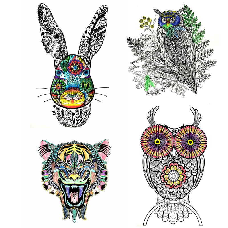 Creative Animal Adults Coloring Book For Children Relieve Stress Secret Garden Graffiti Painting Drawing Colouring In Books From Office School
