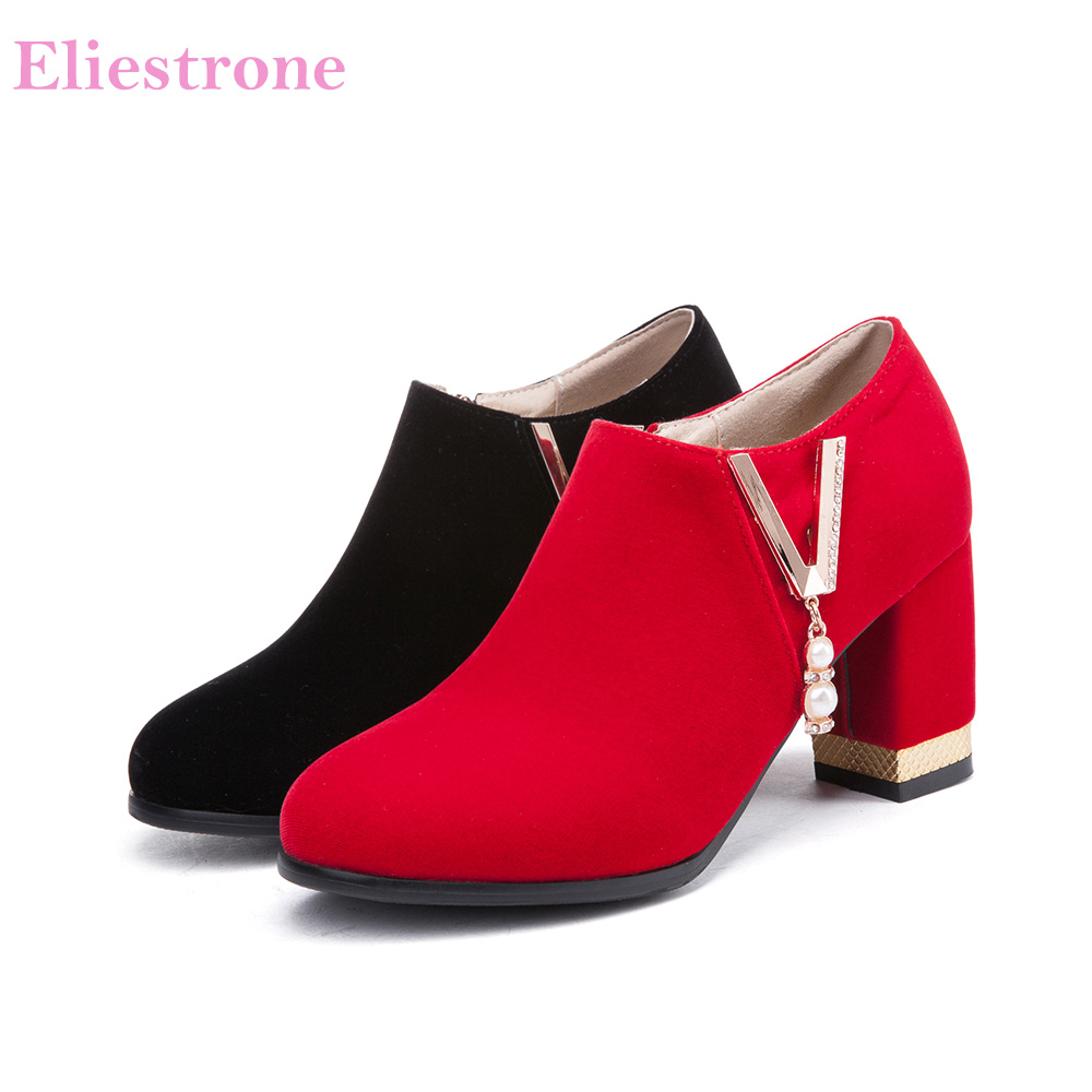 2019 Brand New Comfortable Black Red Women Nude Pumps Vogue High Heels Lady Casual -6737