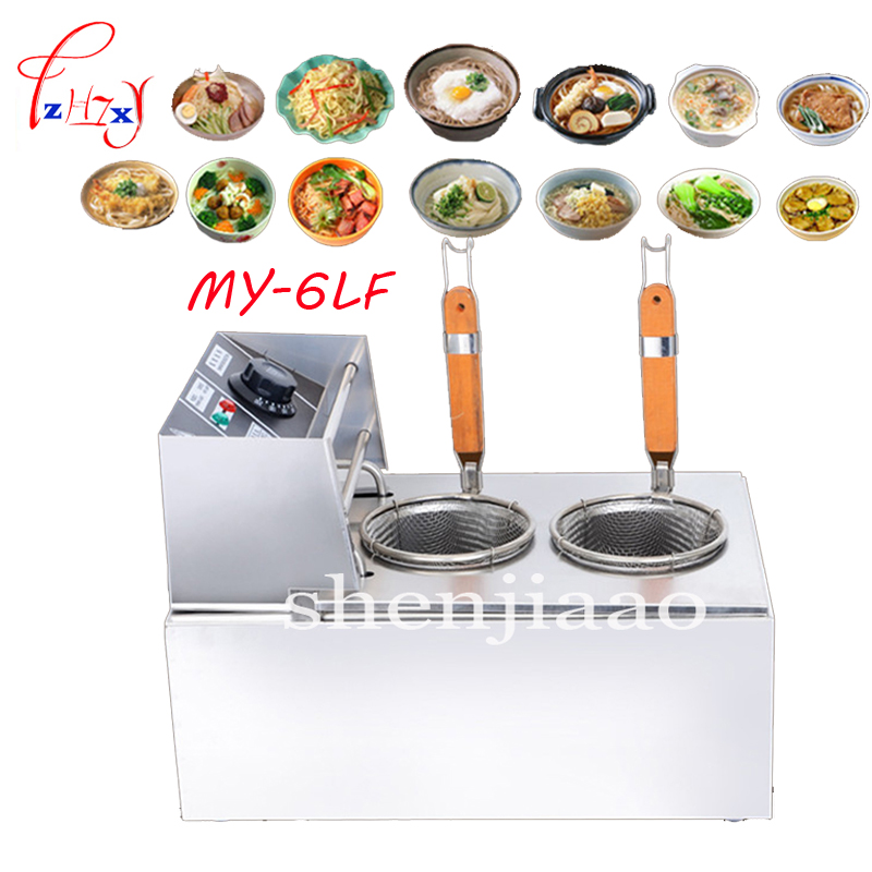 MY-6LF electric pasta cooker boiler stainless steel double pasta pot noodle machine electric noodle cooker 2500w 220v vosoco electric fryer pasta cooker commercial noodle machine pots stainless steel pasta boiler cooker electric heating furnace