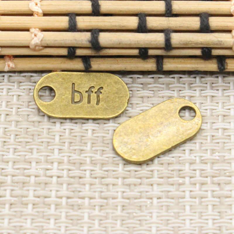 10pcs Charms bff best friend forver 18x9mm Tibetan Silver Plated Pendants  Antique Jewelry Making DIY Handmade Craft