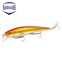 Купить с кэшбэком Minnow Fishing Lure 13cm 19.2g Professional Hard Bait With Three Triple Hooks Crankbait Wobblers Artificial Fishing Tackle pesca