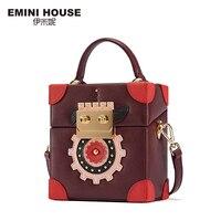 EMINI HOUSE Robot Series Luxury Women Leather Handbags Crossbody Bags For Women Fashion Square High Capacity