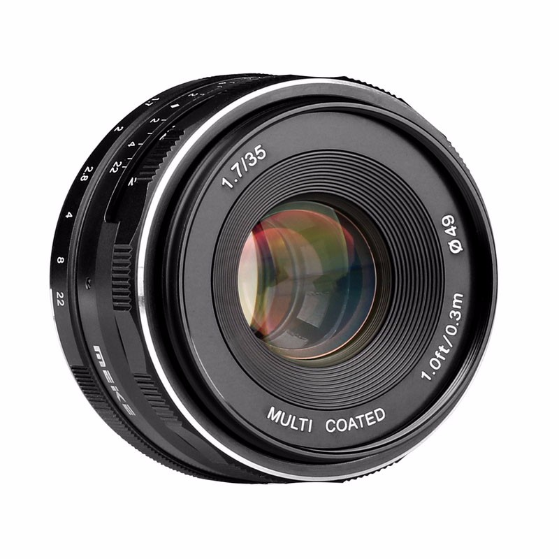 Meike MK-EF-M-35-1.7 35mm f1.7 Large Aperture Manual Focus lens EF-M mount APS-C For Canon for EOS M1 M2 M3 50mm f2 0 aperture manual focus lens aps c for eosm nikon1 m43 sony e mount nex3 5t 6 7 a5000 a6000 a6300 fuji xt1 camera