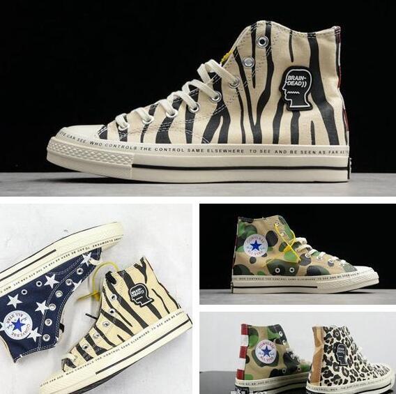 2019 Converse 1970s Brain Dead Camo Chaussures Chuck zapatos Men Women Casual high Top Star Sneakers 35-44
