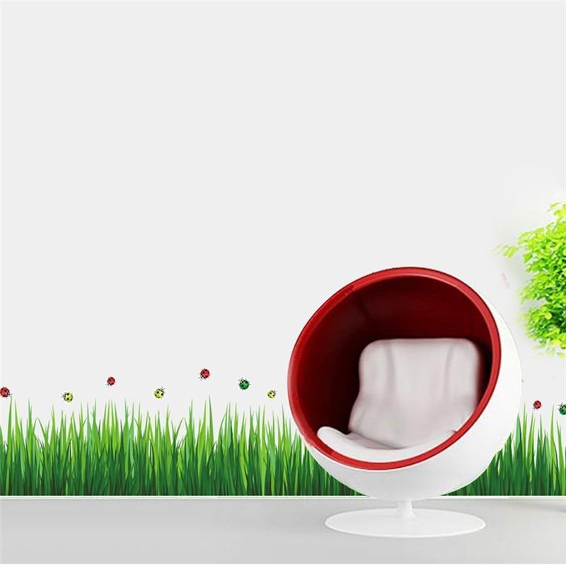 * Groen gras Lieveheersbeestje Plint rose sakura bloem muursticker - Huisdecoratie