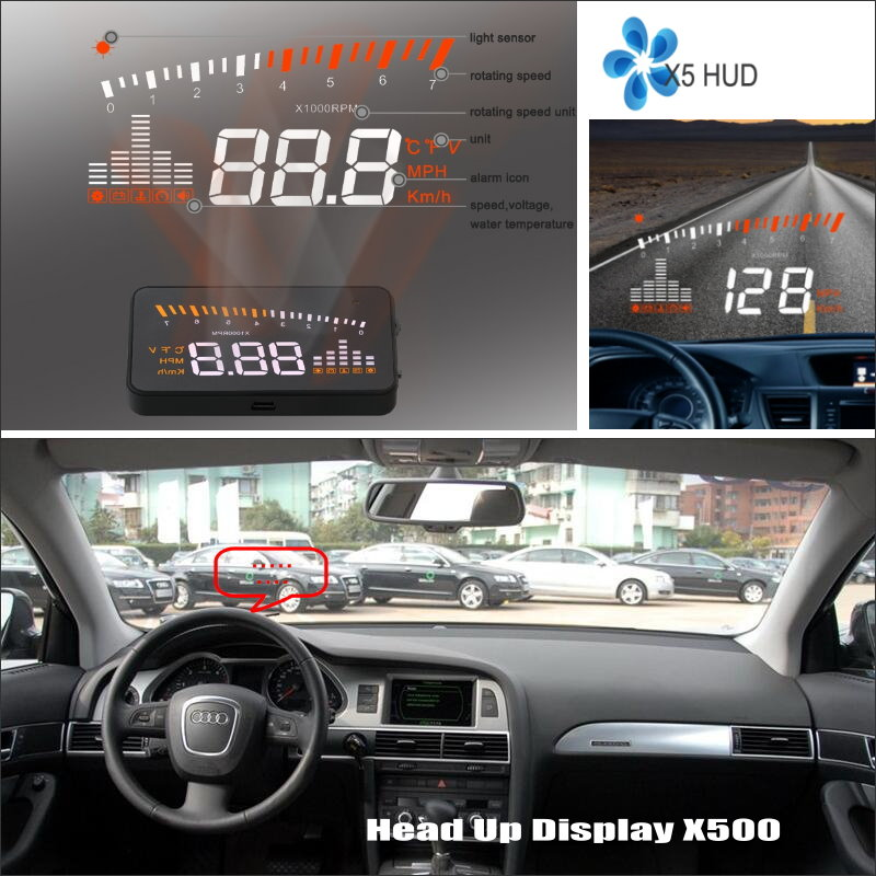 Car Information Projector Screen For Audi A6 C6 4F S6 2005-2009 - Safe Driving Refkecting Windshield HUD Head Up Display