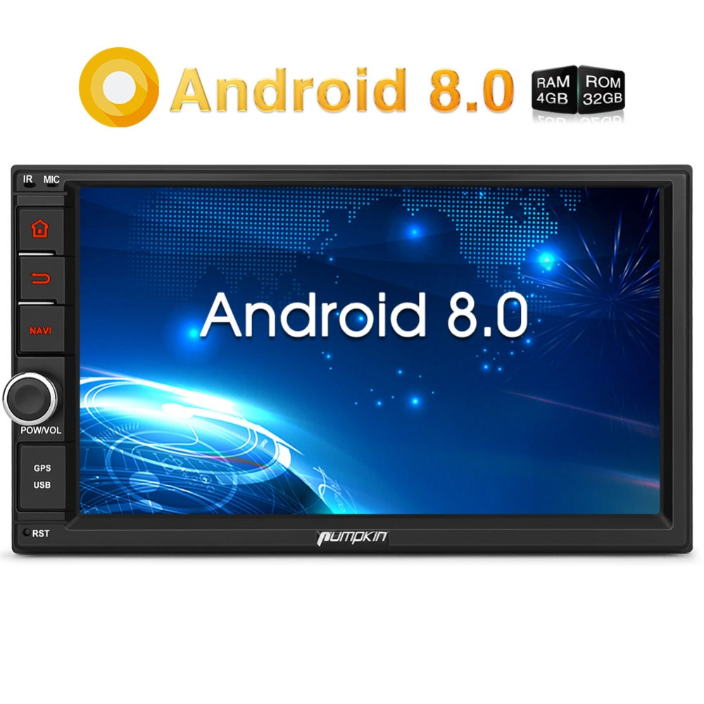 Pumpkin Octa Core Android 8.0 Car Radio 2 Din 7'' Universal Car Stereo GPS 4GB RAM 32GB ROM Wifi 4G Radio Audio Player NO DVD 7 hd digital capacitive touch screen universal 2 din android 8 0 octa core 4g ram 32g rom for nissan car audio stereo