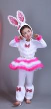 საბავშვო მიმზიდველი კურდღელი კოსტუმი საცეკვაო კაბა ზრდასრული გოგონები კურდღელი Cosplay Dress 100-160cm (S-3XL)
