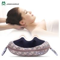JinKaiRui Shiatsu Deep Kneading Massage Pillow Shawl Infrared Heat Massager Relaxation Relieve Neck Shoulder Back Pain