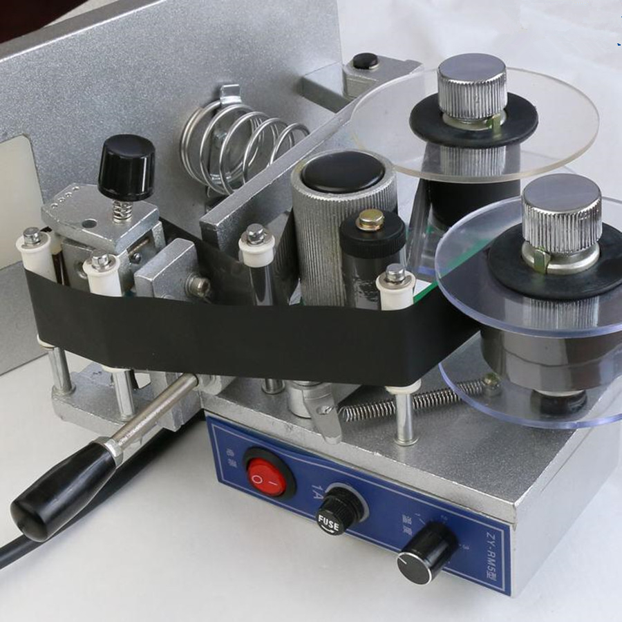 ZY-RM5 Couleur Ruban Machine D'impression À Chaud, La Chaleur ruban imprimante, film sac date imprimante