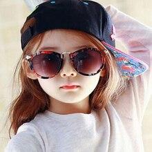 Retro Round Coating Sunglasses Fashion Brand Designer Eyewear Metal Arrow Sunglass For Child Kids Oculos font