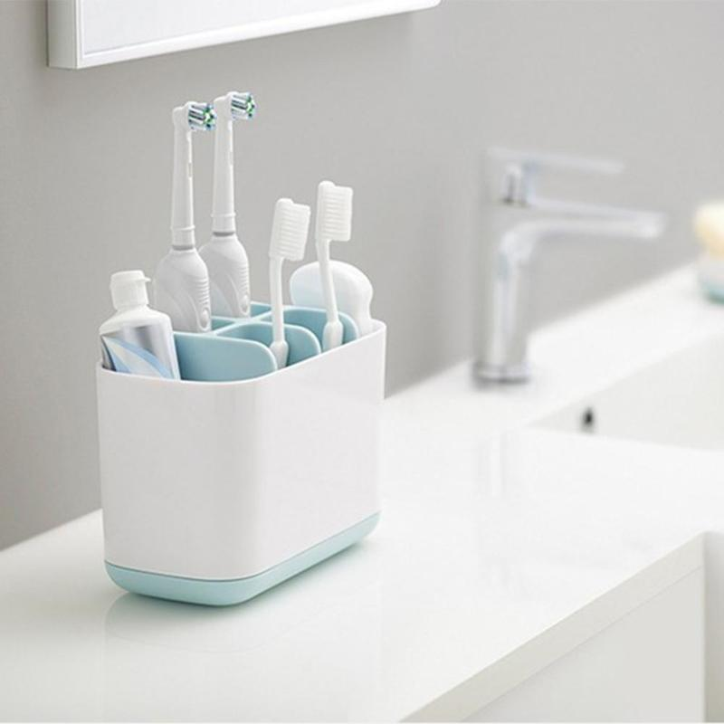 Electric Toothbrush Holder Multifunction Toothpaste Holder Bathroom Storage Rack Toothbrush Toothpaste Holder Organizer полочки для ванной комнаты animal silicone toothbrush holder cute animal silicone toothbrush holder