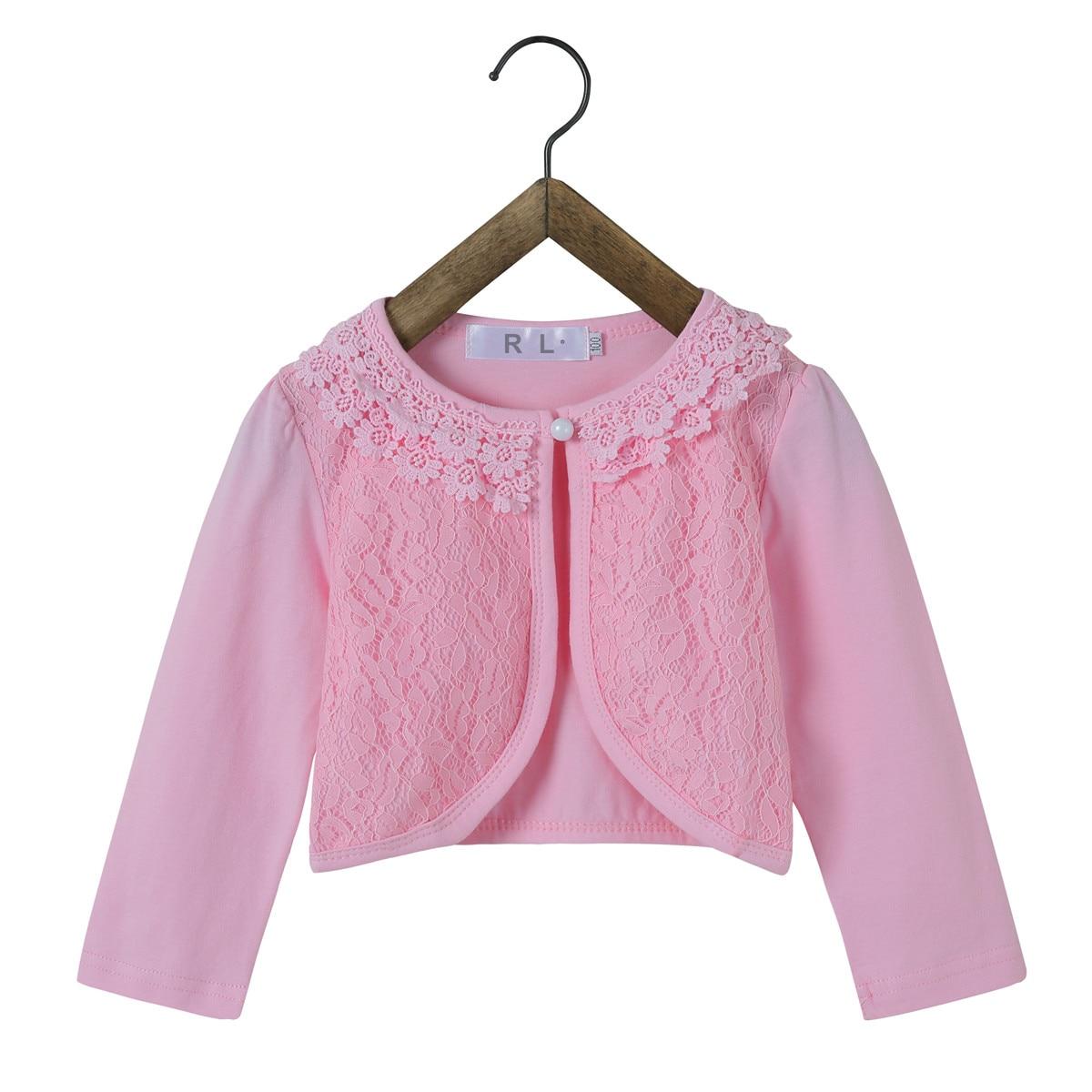 2018 Baby Mädchen Oberbekleidung 100% Baumwolle Weiß Baby Mädchen Jacke Strickjacke Für 12-24 Monate Baby Mädchen Kleidung Akc165001