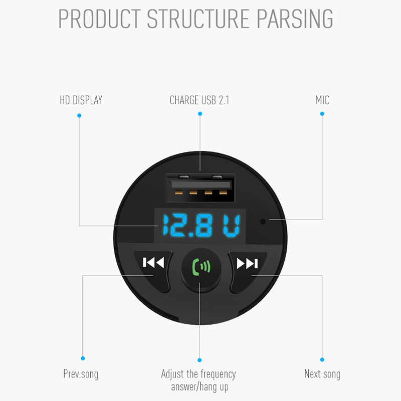Image 4 - Car Charger Bluetooth MP3 Music Player Support TF Card U Disk MP3 WAV WMA FLAC APE CVC Noise Suppression Auto FM Transmitter-in Car MP3 Players from Automobiles & Motorcycles