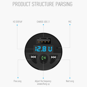 Image 4 - Car Charger Bluetooth MP3 Music Player Support TF Card U Disk MP3 WAV WMA FLAC APE CVC Noise Suppression Auto FM Transmitter